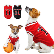 Ropa de perro de algodón transpirable suave cachorro camiseta de baloncesto  chaleco camisa de verano ropa para mascotas Pequeño . 62afd464fb11e