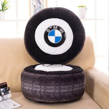 40cm 3D Personalise automobile wheel plush cushion for baby / simulate tire Funny cushions, BMW LOGO baby wheel plush pillow