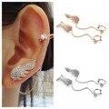 Austrian Crystal Angel Wing Stud Earrings for Women Rose Gold Plated Ear Cuff Earring Jewelry