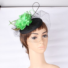 Fashion new style party headwear silk flower with fascinator base wedding hair accessories occasion font b