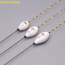 3pcs/set Carp&Crucian Preferred Fishing Floats Deep Water Flotador Pesca Long Tail Composite Nano 1 3# Bobber Fishing Accessory