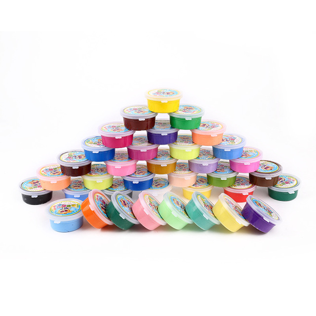Slime 20g 24 Colors Play Dough Slime Nontoxic Puzzle Slime Toys Malleable Fimo Polymer Clay Playdough Children's Toys.z1082