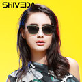 SHIVEDA Sunglasses Fashion Shield Style Glasses Cat Eye Driving Sun Glasses Woman UV400 Protection Holiday Oculos De Sol 15004NP