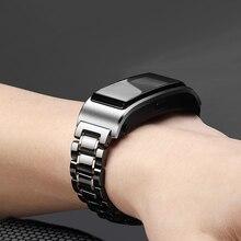 18mm cerâmica pulseira de relógio para huawei talkband b5/honor assista s1 pulseira de substituição liberação rápida watche de pulso banda não se desvanece