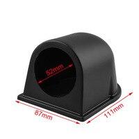 52mm Medidor Medidor de Pressão de Óleo Do Carro Titular ABS Plástico Preto Único Furo de Água Temp Medidor de Temperatura do Óleo Turbo tampa do medidor 2 Polegada|Conjuntos de painel e medidores|   -