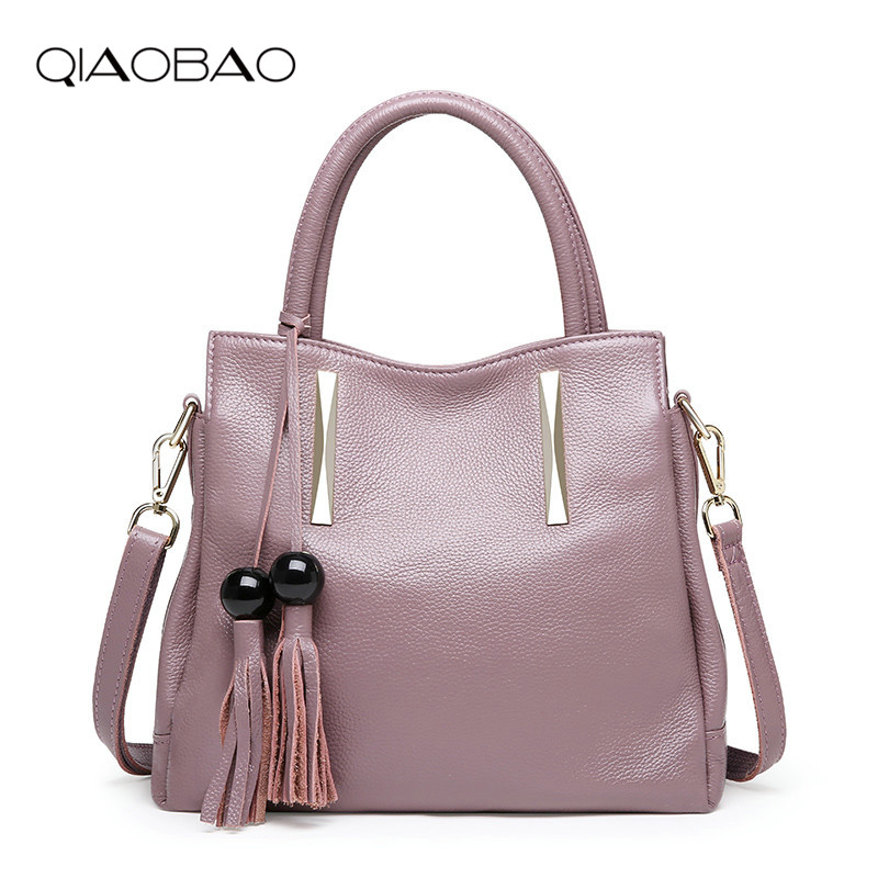 QIAOBAO 2018 Fashion Designer Brand Women Cow Leather Handbags ladies Shoulder bags tote Bag female Retro Vintage Messenger Bag qiaobao 2018 new korean version of the first layer of women s leather packet messenger bag female shoulder diagonal cross bag