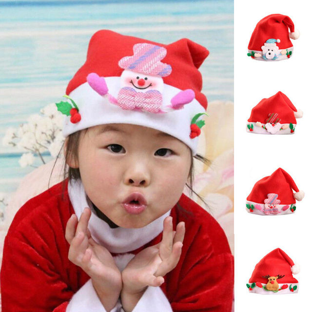 2017 brand new toddler inrfant kids baby christmas hat wrap holiday decor festival gifts cartoon 2