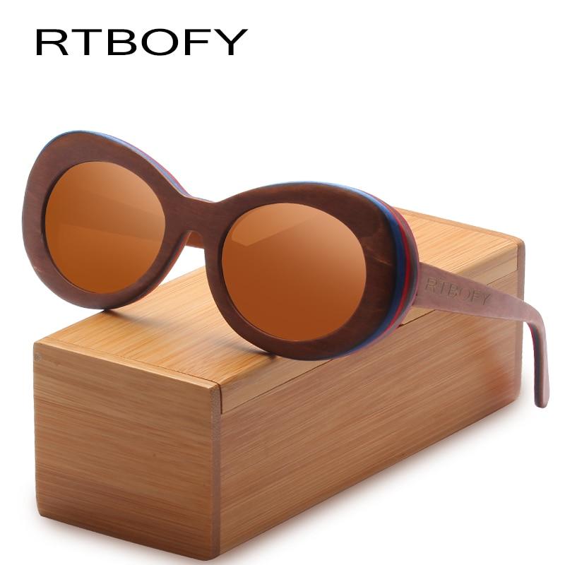 RTBOFY Wood Sunglasses for Men and Women Skateboard Wood Frame Shades Oval Shape Glasses. rtbofy wood sunglasses for men and women skateboard wood frame shades oval shape glasses