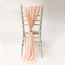 100PCS Chiavari Chair Seat Hood Chiffon Ruffled Chair Decoration for Party Wedding banquet Custom Decoration(China)