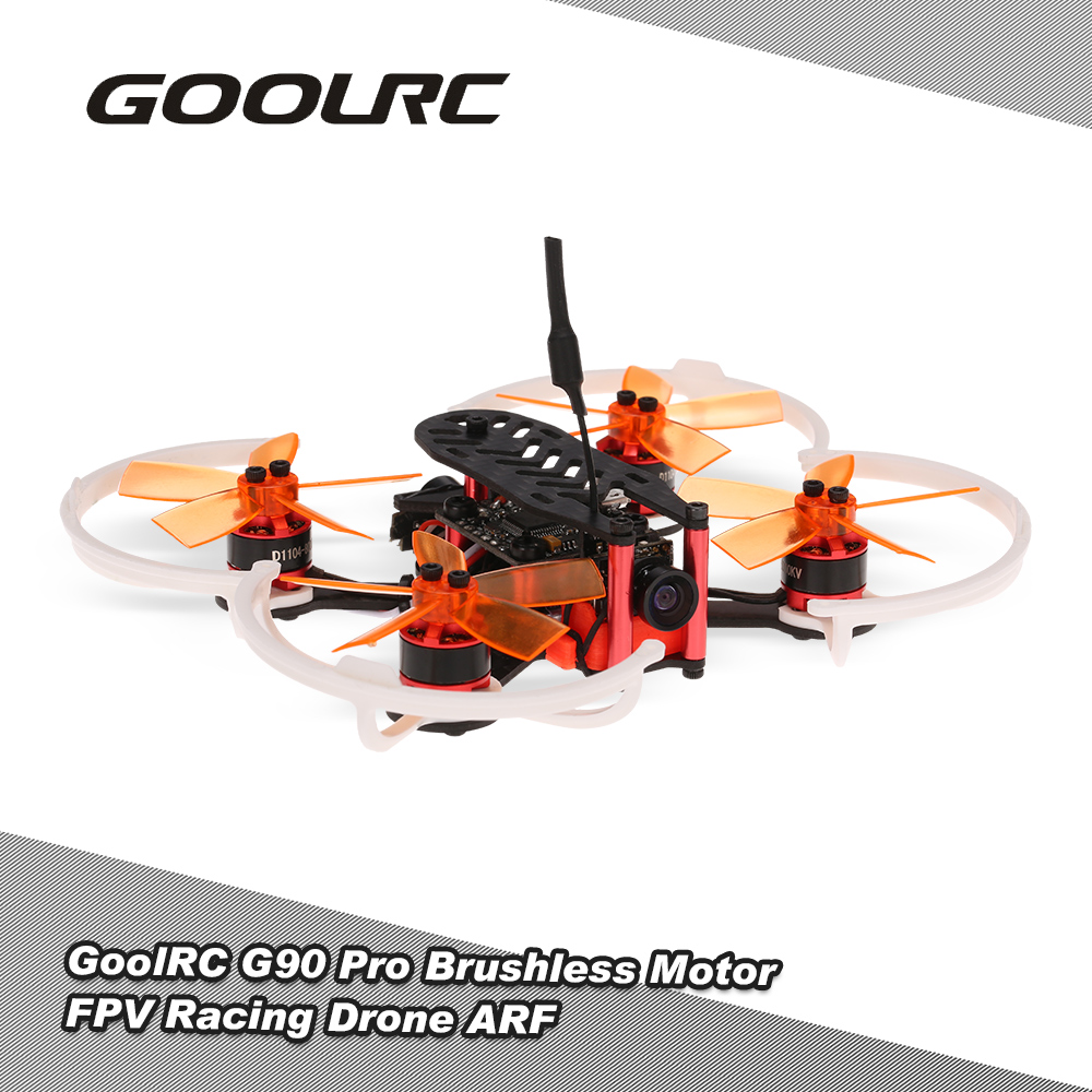 GOOLRC Multi-axis Aircraft G90 Pro 90mm 5.8G 48CH Micro FPV RC Racing Drone Brushless Motor RC Quadcopter Dron DIY Flight ARF 1000kv a2212 brushless drone outrunner motor for aircraft helicopter quadcopter