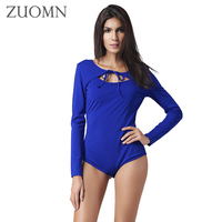 Spring Rompers Sexy Long Sleeve Women Bodysuit Women Sexy Jumpsuits Female Casual Sexy Crop Top American