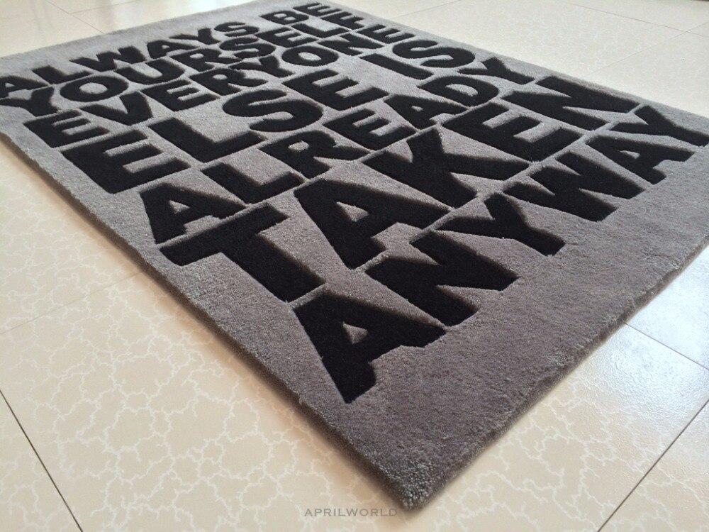 Brief grote maat Acryl tapijt alfombras Moderne Handgemaakte tapijten woonkamer Slaapkamer Mode creatieve salontafel sofa tapete-in Tapijt van Huis & Tuin op  Groep 3
