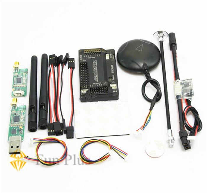 Tarot APM V2.8.0 Flight Controller APM2.8 Ublox Neo-6M GPS Power Module 433 mhz/915mhz 3DR Radio Telemetry for Multicopter 3dr power module apm2 2 5 apm flight controller ardupilot mega apm2 6 f