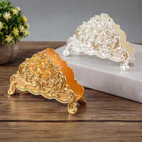 Europe Style Table Tissue Holder Napkin Rack Stand Metal Art Craft Home Decoration Hotel Restaurant Desktop Cafe Ornaments Gift