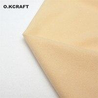 Half Meter Light Khaki Doll Skin Fleece Fabric Tilda Solid Color Plush Cloth For Sewing Patchwork