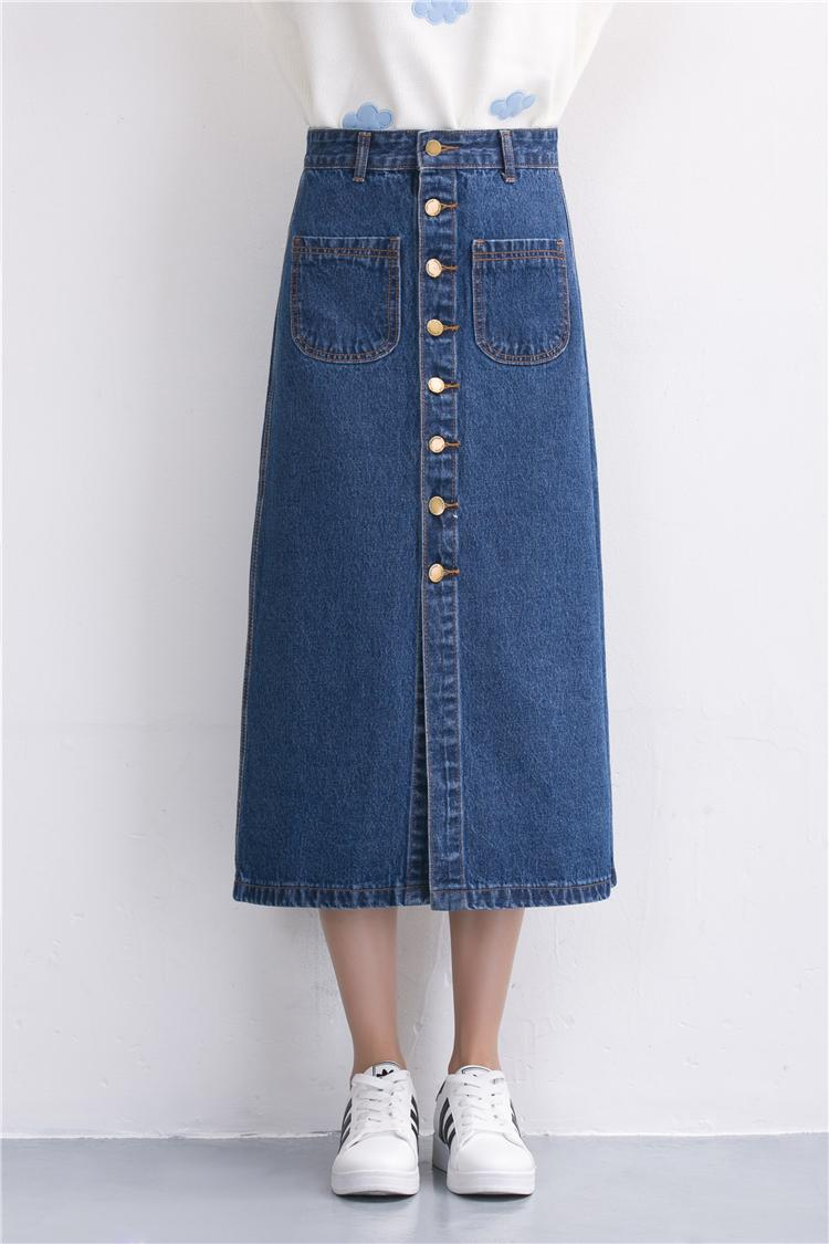 Popular Denim Skirt Long-Buy Cheap Denim Skirt Long lots from ...