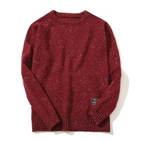 New Fashion Dot Men S Sweaters Knitted Long Sleeve O Neck Woolen Pullovers Men Autumn Winter