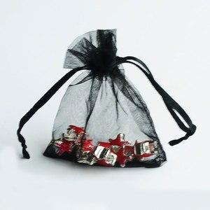 Image 3 - 500 ピース/ロット卸売オーガンザバッグ 7x9 9 × 12 10 × 15 13 × 18 センチメートル Drawable の結婚式包装ギフトバッグパーティージュエリーバッグポーチ