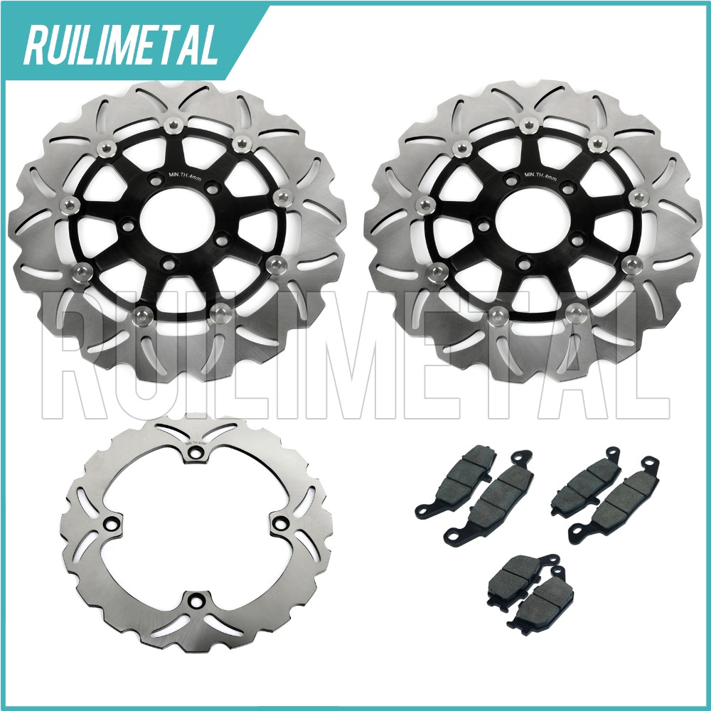 Full Set Front Rear Brake Discs Rotors Pads for Suzuki DL V-STROM 650 02 03 04 05 06 DL 1000 V-STROM 02-09 08 07 K9 K8 K7 K6 K5 full set front rear brake discs disks rotors pads for suzuki gsxr 750 94 95 gsx r 1100 p r s t 1993 1994 1995 1996