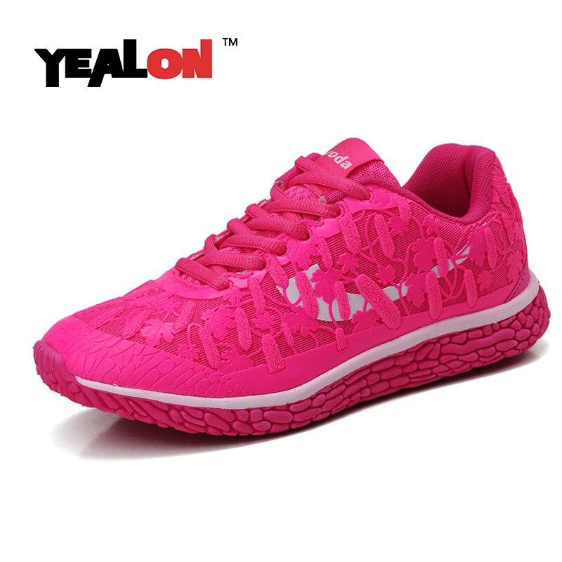 yealon running shoes for women light breathable trainer 2016 chaussure femme sport running women. Black Bedroom Furniture Sets. Home Design Ideas