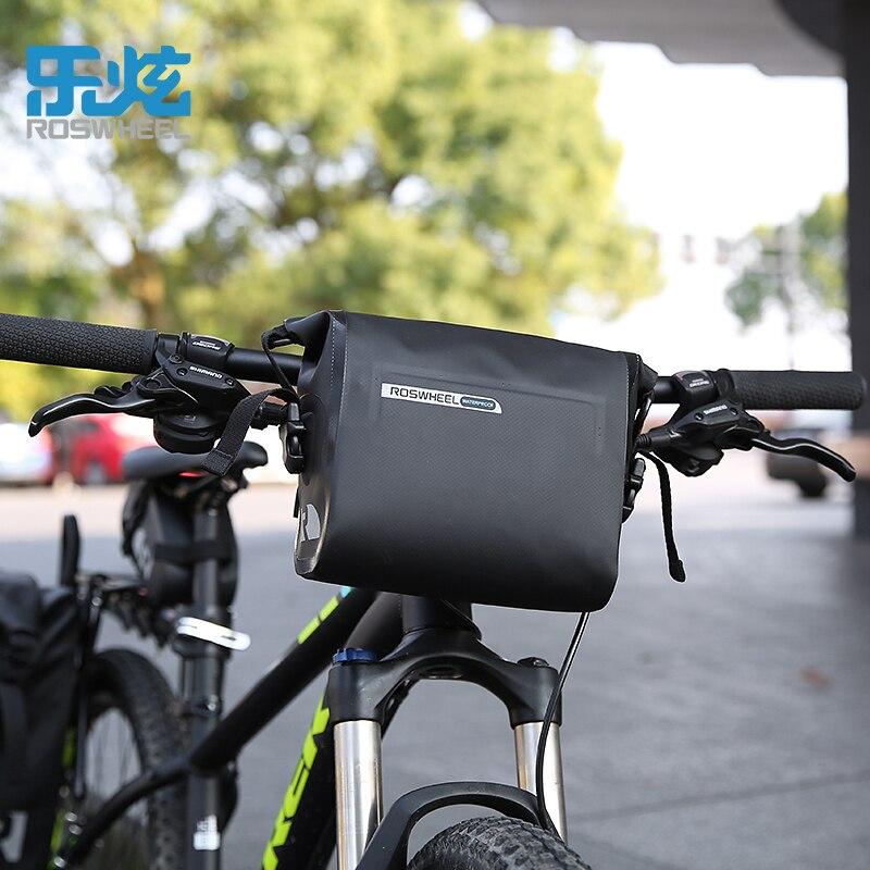 Roswheel Full Waterproof Mtb Bike Handlebar Bag Cycling Bicycle