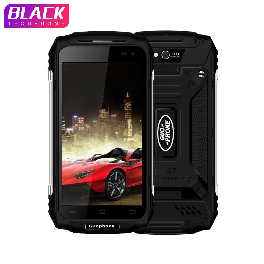 Guophone X2 4g Smartphone Android 6.0 MT6737 Quad Core 5.0 HD IP67 Étanche antichoc Téléphone 2 gb 16 gb 8MP 5500 mah superbattery