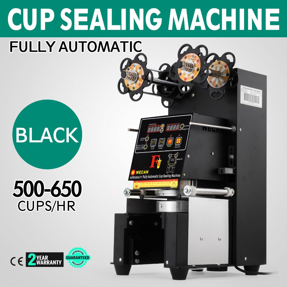Electric Fully automatic Bubble Tea Cup Sealing Machine 420W 500 650 Cups Hr