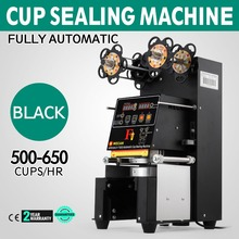 Электрическая полностью автоматическая чашка для бабл-ти машина запечатывания 420 Вт 500-650 чашек/ч
