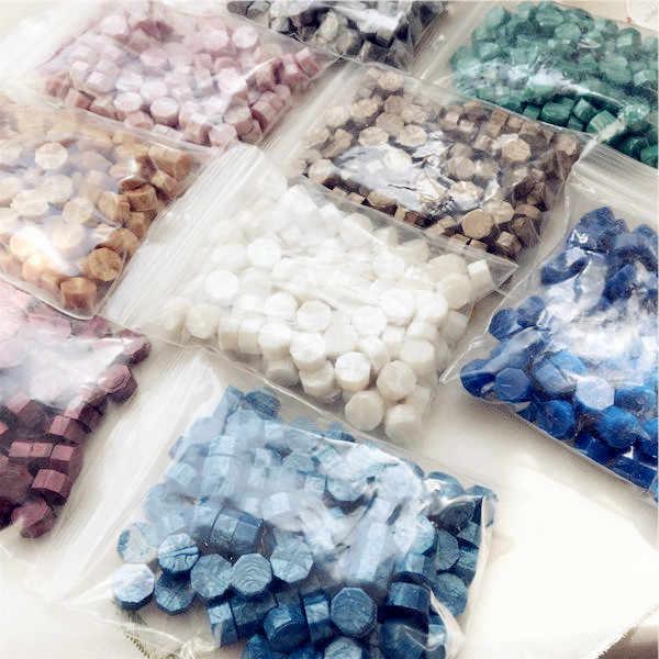 Cera para selar vintage, cera para selar convites/grão/faixa para selar a cera 30g,100 ~ 105 peças no saco