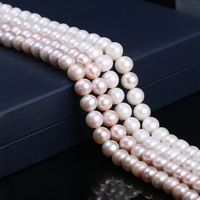 Natural Freshwater Cultured Pearls Beads Round 100% Natural Pearls for Jewelry Making Necklace Bracelet 13 Inches Size 10 11mm