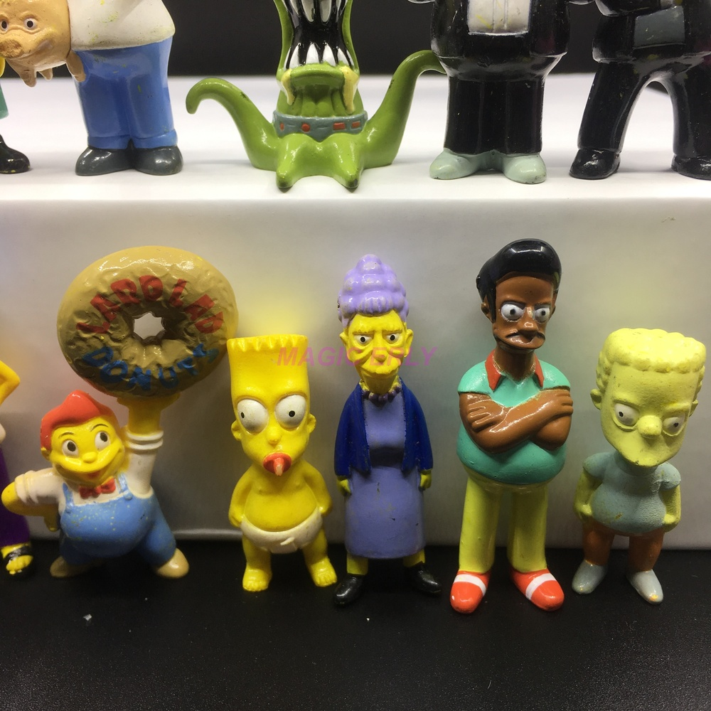 The Simpsons Figures toy doll 6pcs Set Homer Marge Bart Lisa maggie