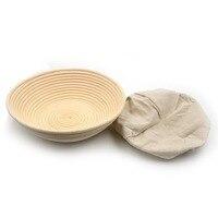 1pc Circle 30 x 8.5cm Banneton Bortform Rattan Basket Bread Dough Proofing Handmade Multi Storage