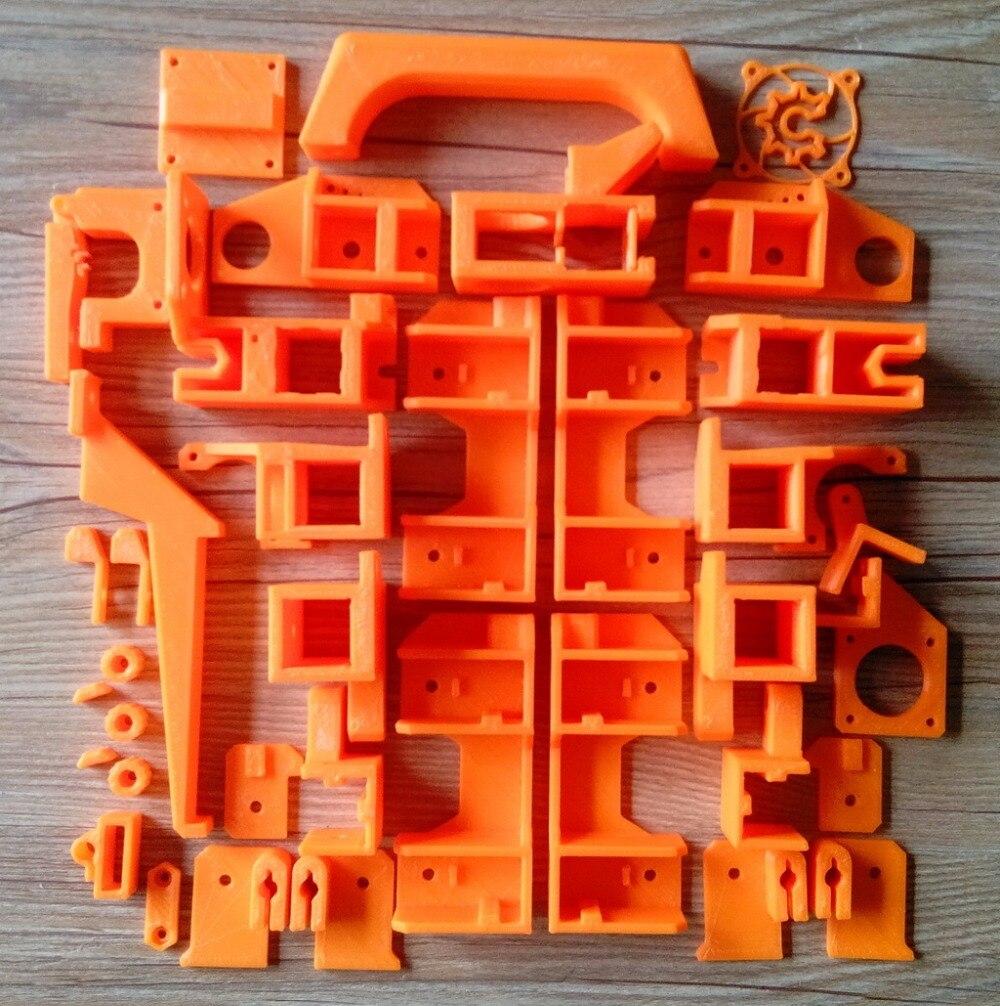 Reprap FoldaRap 3D Printer Printed Parts Kit Plastic Parts Kit PLA Material, good Quality hot sale reprap wilson ts 3d printer required abs plastic parts set printed parts kit free shipping