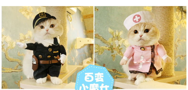 New Hot Sale Cats outfit Pirate small Dogs Puppy pet Costume Clothes funny suit Nurse Uniform Cosplay Costumes Cat supplies