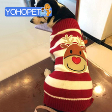 Pet puppy/large dog cat new year Christmas Reindeer Sweaters Xmas Reindeer dog Clothes autumn winter warm knitting crochet Cloth