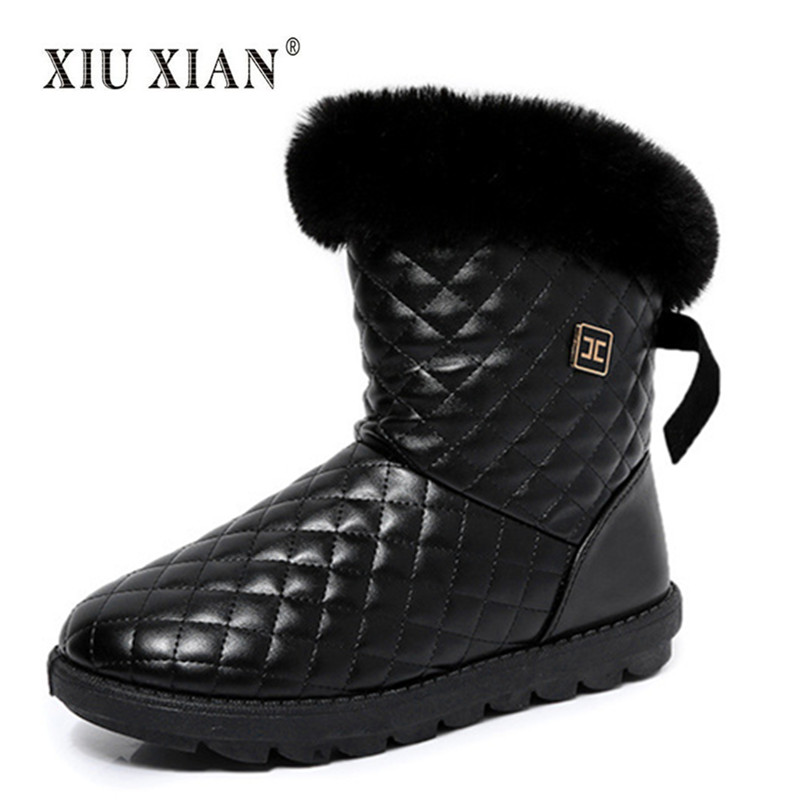 New Fashion Women Snow Boots 2018 Winter Warm Plush Non Slip Comfortable Lady Outdoor Shoes High Quality Luxury Fur Cotton Boots new winter children snow boots boys girls boots warm plush lining kids winter shoes