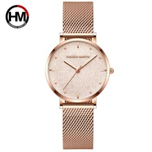 Women Watches Top Brand Luxury Ultra Thin Starry Dial Quartz Watch Women Stainless Steel Waterproof Wristwatch relogio feminino brand julius women watches ultra thin leather strap watch band analog display quartz wristwatch luxury watches relogio feminino