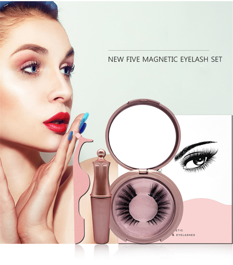 2019 New 1Set Magnetic False Eyelashes Waterproof Smudge Proof Handmade Easy To Wear Magnetic Lashes Women Makeup Lashes
