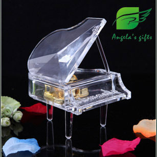 Acrylic Piano music box, instrumento musicalesv for girls, angel box birthday gifts, home decor free shipping Angela's gifts