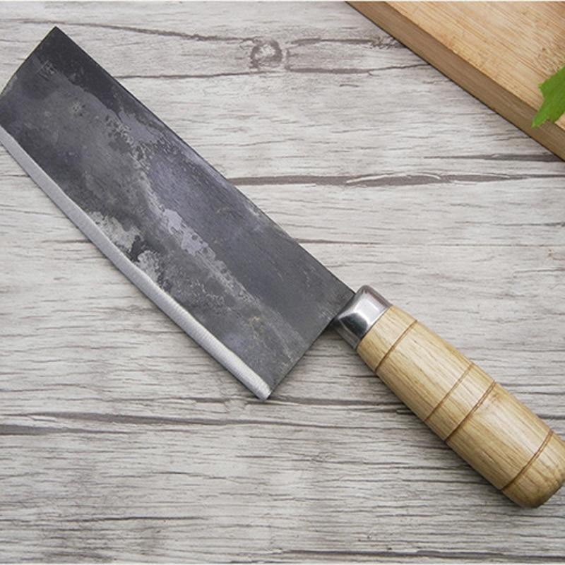 اليدوية الصينية سكين الطاهي يرتدون مزورة الصلب قطعة العاج التقطيع جزار سكاكين المطبخ صنع في الصين أدوات مطبخ المهنية-في سكاكين مطبخ من المنزل والحديقة على  مجموعة 1