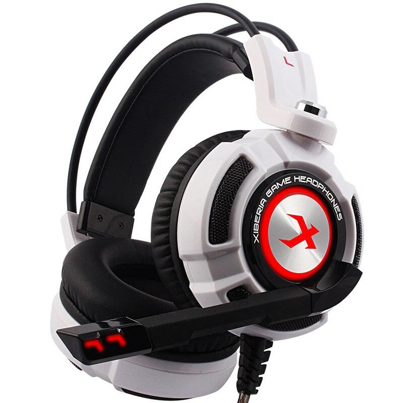 Para juegos 7,1 sonido vibración Over-ear auriculares USB con micrófono bajo estéreo ordenador portátil marca Xiberia K3