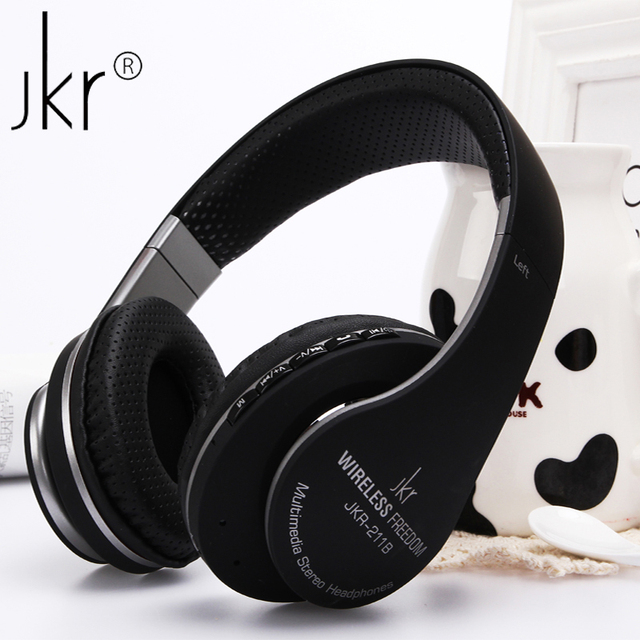 2fbd5397de9 JKR-211B Stereo Wireless Bluetooth Headset Auriculares Sports Headphone  Earphones with Mic FM Radio TF Handsfree for PC Phones