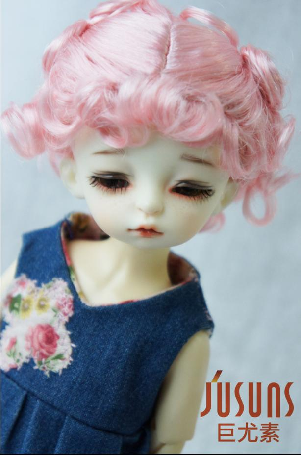 JD048 1/6 15-18CM doll wigs  Yosd Classical Curly BJD Wigs Double pony curly 6-7inch  Synthetic Mohair doll accessories