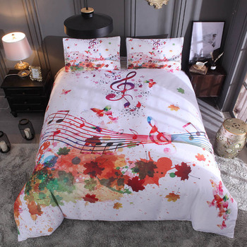 watercolor, splash ink, personalized notes, star kit, printing,,DropShipping Comforter bedding set 3pcs