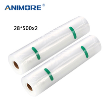 ANIMORE Vacuum Packaging Rolls 28×500 Vacuum Heat Sealer Food Saver Bags Food Storage Bags 2 Rolls Food Storage Bags