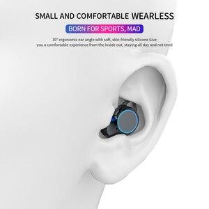 Image 3 - G02 v5.0 bluetooth fone de ouvido estéreo sem fio ipx7 à prova dwaterproof água toque fones de ouvido fone de ouvido 3300mah bateria display led tipo c caso de carga
