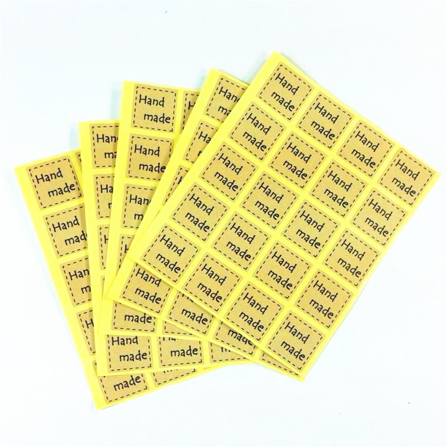 240pcs/lot DIY Multifunction Square Hand Made Seal Sticker For Handmade Products Package Label