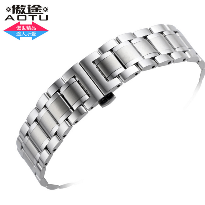 20mm Stainless Steel Watch Strap For Longines Men's Automatic Mechanical Stainless Steel Watch Strap Silver Watchband For Men серьги коюз топаз серьги т101023128