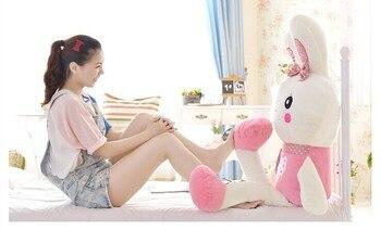 huge 120 cm pink love rabbit plush toy throw pillow rabbit doll gift w4021