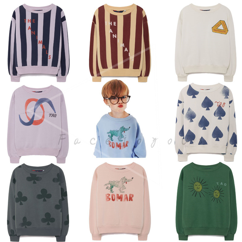 Baby T-shirts Toddler Boys Tops Tao Brand Bear Kids Sweatshirts Girls Long Sleeve Sweatshirt Children Cotton Clothes T Shirt round neck long sleeve 3d coins print sweatshirt